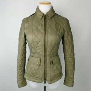 Burberry Brit Ivymore Pale Fawn Quilted Jacket